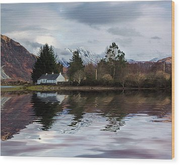 Loch Etive Reflections Wood Print