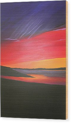Loch Ewe Wood Print by Aileen Carruthers