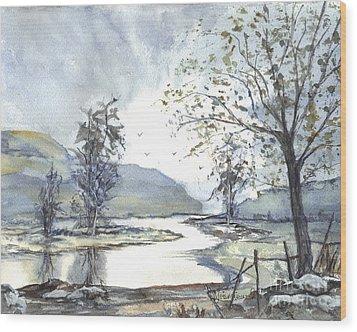 Loch Goil Scotland Wood Print by Carol Wisniewski