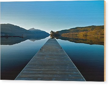 Wood Print featuring the photograph Loch Lomond In The Morning by Stephen Taylor
