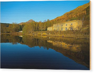 Wood Print featuring the photograph Loch Lomond Power Station by Stephen Taylor