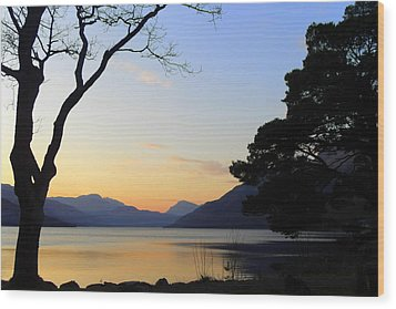 Loch Lomond Sunset Wood Print by The Creative Minds Art and Photography