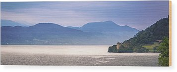 Loch Ness And Urquhart Castle Wood Print