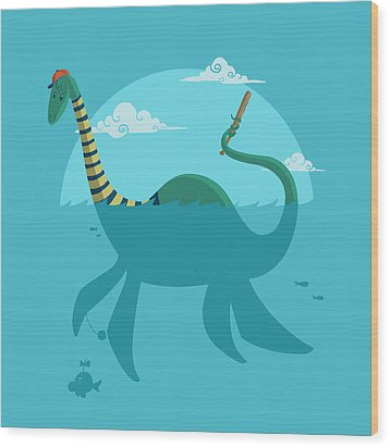 Loch Ness Monster Wood Print by Michael Myers