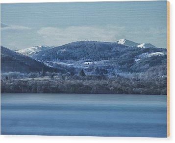 Loch Ness Winter Blues Wood Print by Jacqi Elmslie