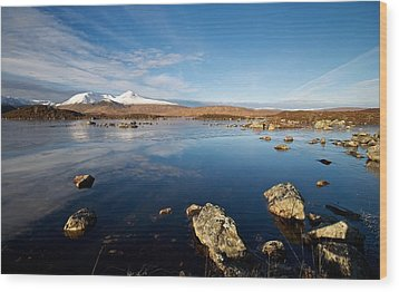 Wood Print featuring the photograph Lochan Na Achlaise by Stephen Taylor