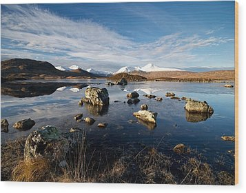 Wood Print featuring the photograph Lochan Na H-achlaise by Stephen Taylor