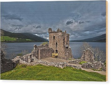 Lochness Wood Print by Terry Cosgrave