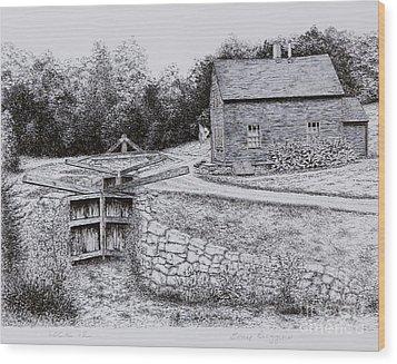 Lock 12 Wood Print