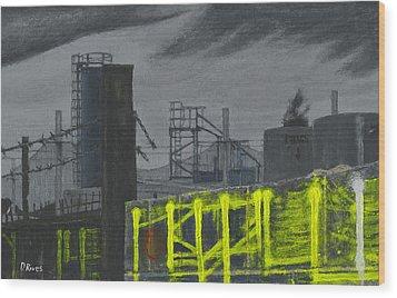 Lock Lane Acrylic On Canvas Wood Print