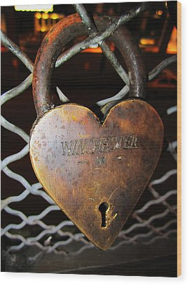 Lock Of Love Wood Print by Kym Backland