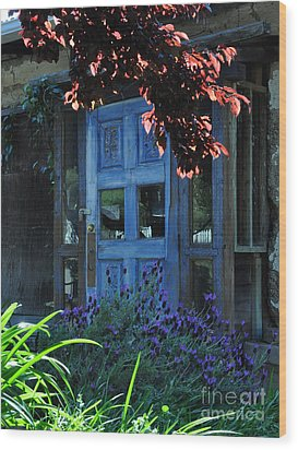 Locked Blue Door  Wood Print