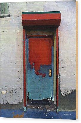 Locked Door, Hell's Kitchen Wood Print by RC deWinter