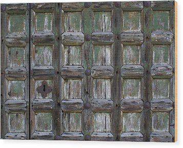 Wood Print featuring the digital art Locked Door by Ron Harpham