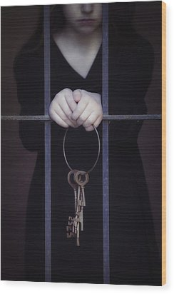 Locked-in Wood Print by Joana Kruse