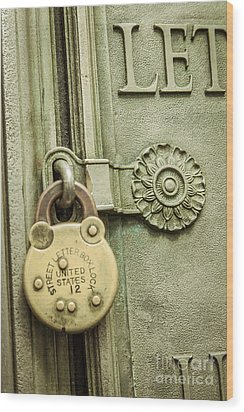 Locked Wood Print by Lee Wellman