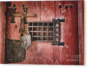Locked Up Wood Print by Olivier Le Queinec