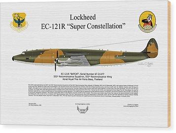 Lockheed Ec-121r 553rs Korat Rtafb Wood Print by Arthur Eggers