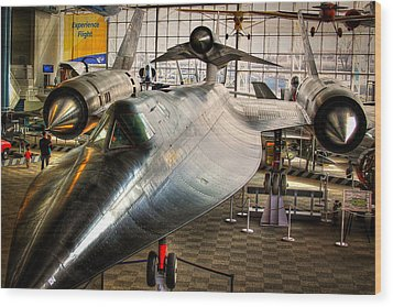 Lockheed M-21 Blackbird Wood Print by David Patterson