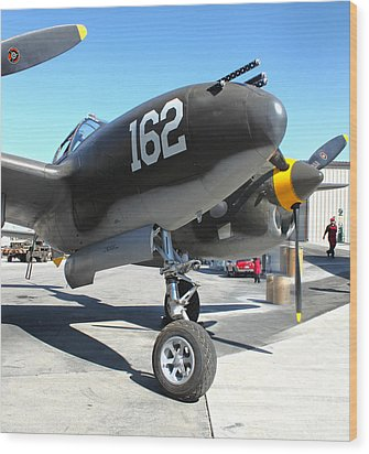 Lockheed P-38 - 162 Skidoo - 01 Wood Print by Gregory Dyer