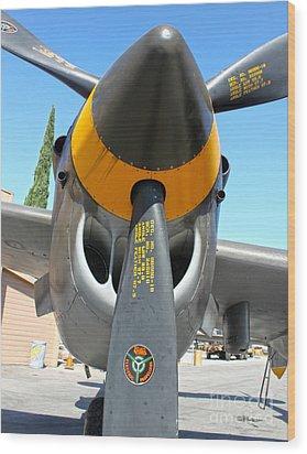 Lockheed P-38 - 162 Skidoo - 02 Wood Print by Gregory Dyer