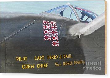 Lockheed P-38 - 162 Skidoo - 03 Wood Print by Gregory Dyer
