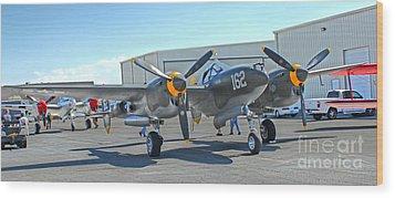 Lockheed P-38 - 162 Skidoo - 06 Wood Print by Gregory Dyer