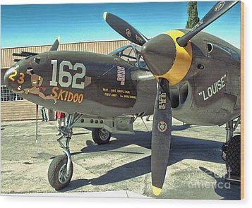 Lockheed P-38 - 162 Skidoo - 07 Wood Print by Gregory Dyer