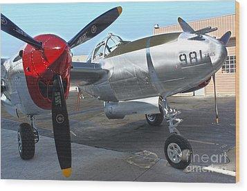Lockheed P-38l Lightning Honey Bunny  - 03 Wood Print by Gregory Dyer