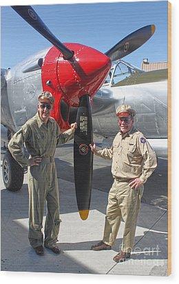 Lockheed P-38l Lightning Honey Bunny  - 04 Wood Print by Gregory Dyer
