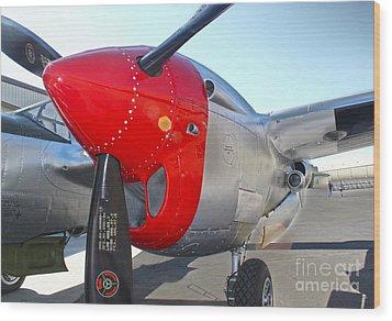 Lockheed P-38l Lightning Honey Bunny  - 07 Wood Print by Gregory Dyer