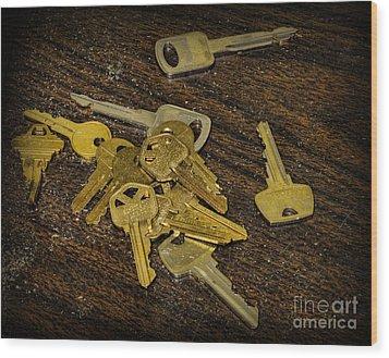 Locksmith - Rejected Keys Wood Print by Paul Ward