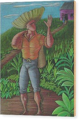Loco De Contento Wood Print by Oscar Ortiz