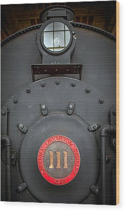 Wood Print featuring the photograph Locomotive 111 by Marion Johnson