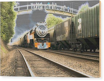 Locomotive Engine 4449 Wood Print by Rich Collins