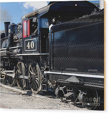 Wood Print featuring the photograph Locomotive With Tender by Gunter Nezhoda