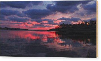 Locust Sunset Wood Print by Raymond Salani III