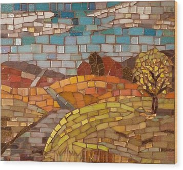 Loess Hills Wood Print by Julie Mazzoni