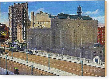 Loew's Jersey Theatre In Jersey City N J Around 1930 Wood Print
