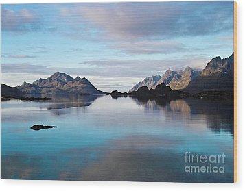 Lofoten Islands Water World Wood Print by Heiko Koehrer-Wagner