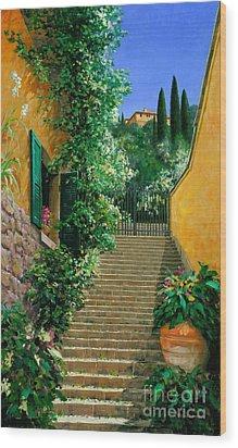 Lofty Heights Wood Print by Michael Swanson