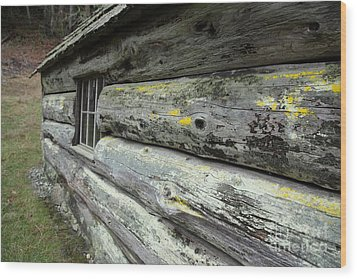 Log Cabin Side Wood Print by Graham Foulkes