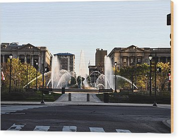 Logan Square Philadelphia Wood Print by Bill Cannon