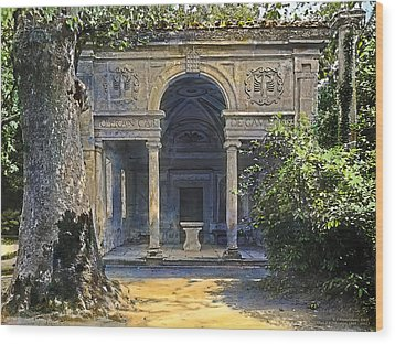 Loggia Of The Muses Wood Print by Terry Reynoldson