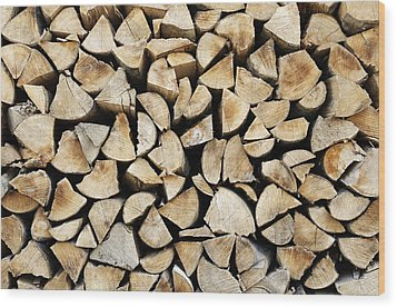 Logs Background Wood Print
