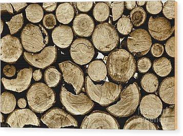 Logs Wood Print by Jeff Breiman