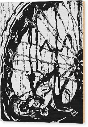 Lointain Wood Print by Hatin Josee