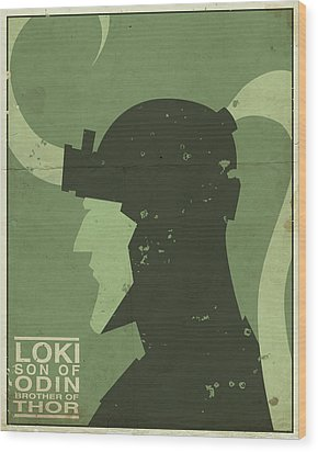 Loki - Son Of Odin Wood Print by Michael Myers