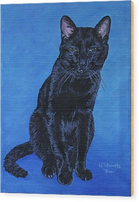 Wood Print featuring the painting Loki by Wendy Shoults