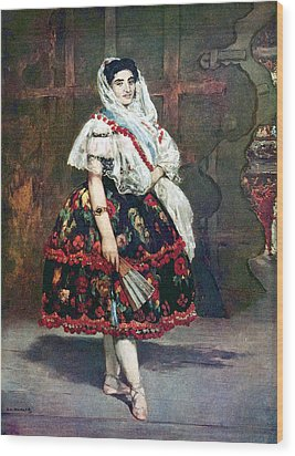 Lola Of Valencia Wood Print by Edouard Manet